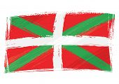 stock photo of basque country  - Grunge Basque Country flag - JPG