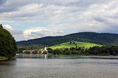 Frymburk - small town near Lipno lake in Czech Republic.