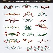 Collection of decorative design element 9