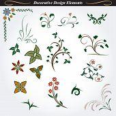 Collection of decorative design element 6