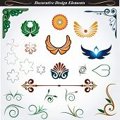 Collection of decorative design elements 13