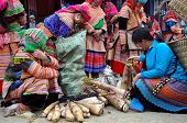 Black H'mong vendors at Bac Ha market, Northern Vietnam