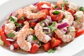 shrimp ceviche , prawn ceviche, seafood marinated salad