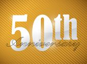 foto of 50th  - 50th anniversary Silver Character Collection illustration design - JPG