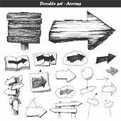 Doodle conjunto: setas