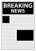 Breaking World News Newspaper First Page