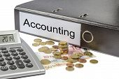 Accounting Binder Calculator And Currency
