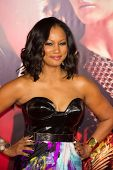 LOS ANGELES, CA - NOVEMBER 18: Actress Garcelle Beauvais arrives at the premiere of The Hunger Games