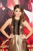 LOS ANGELES, CA - NOVEMBER 18: Actress Sarah Hyland arrives at the premiere of The Hunger Games: Cat