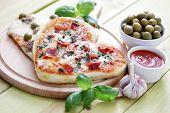 homemade delicious pizza - food and drink