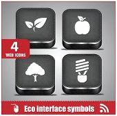 Web eco interface symbols Mobile phone icons