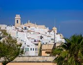 Mao Mahon downtown white city in Menorca at Balearic islands Spain