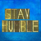 picture of humble  - Earthy textured background image and design element depicting the words  - JPG