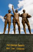 picture of bobbies  - This statue overlooks Manchester United - JPG