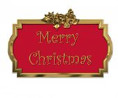 Christmas decorative golden 3D frame