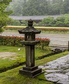The Stone Lantern At The Todai Ji Temple In Nara, Japan.