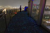 Fluoroscent Floor Of The Viewing Terrace Of Umeda Sky Building  In Osaka Japan