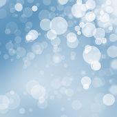 Transparent Blue And White Christmas Bokeh Balls Illustration