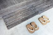 Japanese wooden sandals