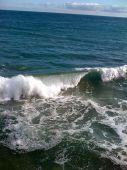 Pacific Coast evening tide in sunny Malibu.