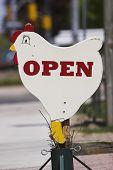 Open Chicken Sign