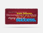 picture of stepping stones  - Develop success from failures - JPG