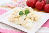fresh salad of eggs