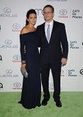 LOS ANGELES - OCT 19:  Matt Damon & Luciana Barroso arrives to