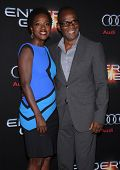 LOS ANGELES - OCT 28:  Viola Davis & Julius Tennon arrives to