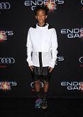 LOS ANGELES - OCT 28:  Jaden Smith arrives to