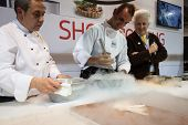 Liquid Nitrogen Cooking At Golosaria 2013 In Milan, Italy