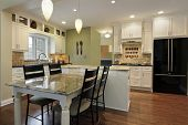 pic of granite  - Kitchen with granite island and table - JPG