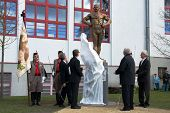 LITOVEL, CZECH REPUBLIC - NOVEMBER 8, 2013 - Unveiling the statue of Czech wrestler Gustav Fri�ten