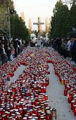 ZAGREB, CROATIA - 01 November: Zagreb cemetery Mirogoj on All Saints Day visited by thousands of peo