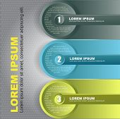 Abstract vector infographic background with three steps. Can use for web, brochure, flyer, poster  w
