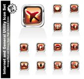 Web And Internet Utility Icons - Set 2A
