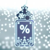Magic Christmas Label With Percent Sign
