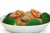 braised pig's trotters with brown sauce, chinese food