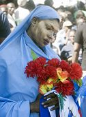 Haitian Protestor Woman