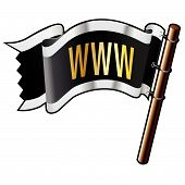 Www Icon On Pirate Flag