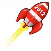 2012 Year Rocket Ship