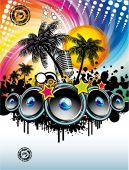 Постер, плакат: Музыкальный праздник дискотека