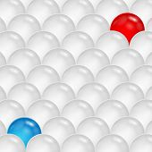 Abstract Background Of Gray And Blue And Red  Spheres.abstraction Of The Balls.vector
