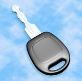 Metal Car Key - Isolated