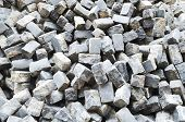 Pile Of Cobblestone Pavers