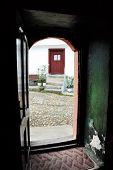 Opened Door Of Church