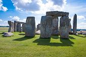 stock photo of stonehenge  - Stonehenge prehistoric ancient monument near Salisbury England  - JPG