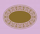 Elegant oval shaped gold plaque