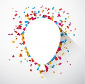 image of confetti  - Colorful celebration background with confetti - JPG