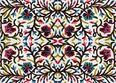 bright Embroidered Bedspread